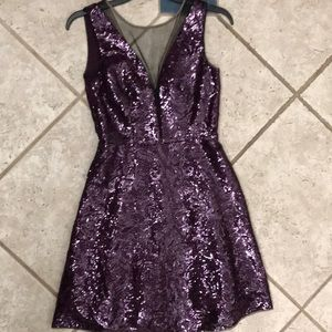 BCBG Sequined Party Dress